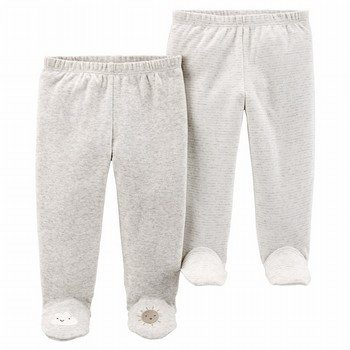Carter's 2PK Babysoft Footed Pants