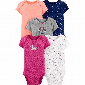 Carter's 5PK Unicorn Original Bodysuits