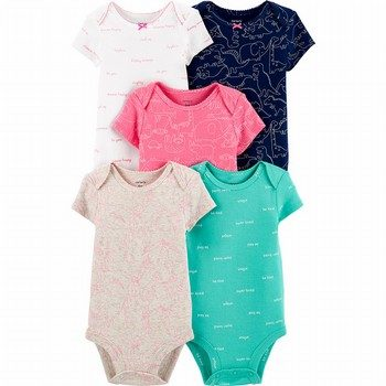 Carter's 5PK Animal Print Original Bodysuits