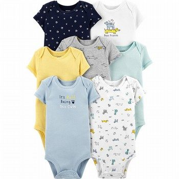 Carter's 7PK Dog Original Bodysuits