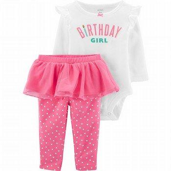 Carter's 2PC Birthday Girl Bodysuit & Tutu Pant Set