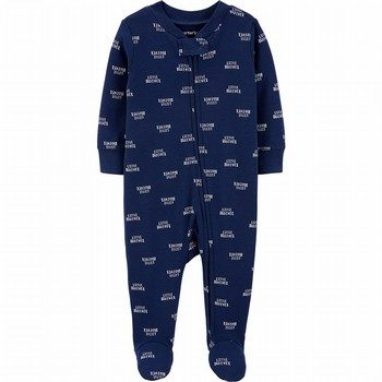Carter's Little Brother Zip-Up Cotton Sleep & Play Onepiece