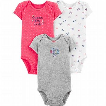 Carter's 3PK Princess Original Bodysuits