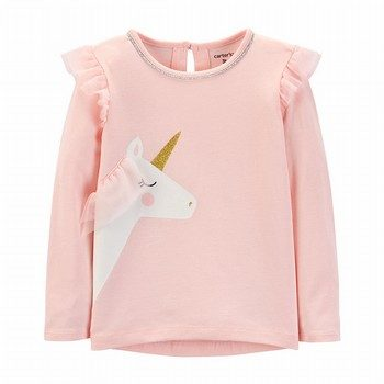 Carter's Glitter Unicorn Hi-Lo Flutter Top