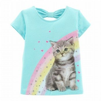 Carter's Rainbow Cat Bow Tee