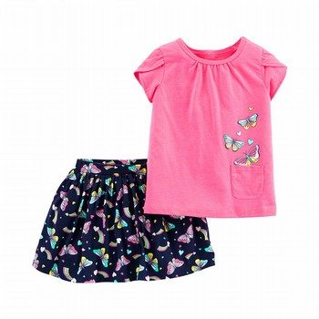 Carter's 2PC Butterfly Top & Skort Set