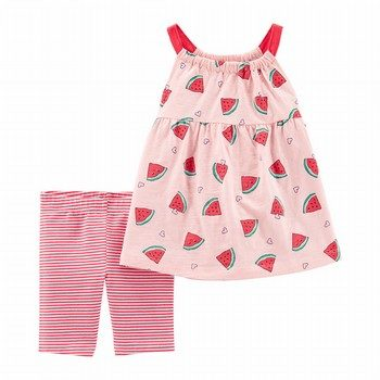 Carter's 2PC Watermelon Tank & Bike Short Set