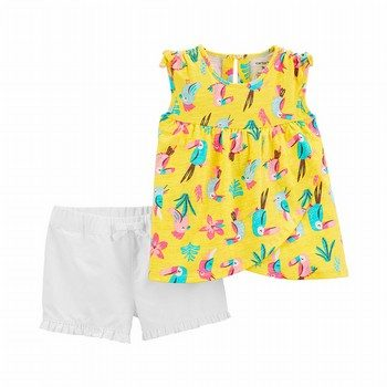 Carter's 2PC Tropical Toucan Tank & Twill Short Set