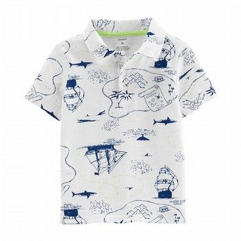 Carter's Pirate Ship Slub Jersey Polo