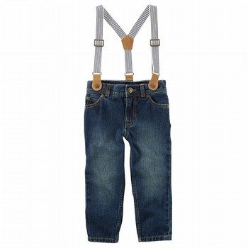 Carter's 5-Pocket Straight-Fit Suspender Jeans
