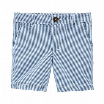Carter's Striped Flat-Front Shorts