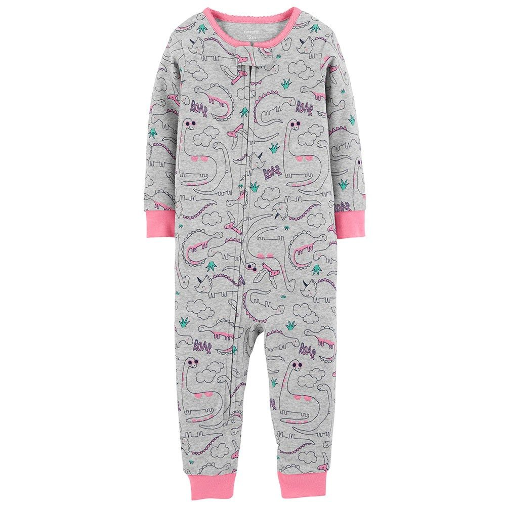 Pink Carters Baby Girls 1-Piece Sloth Footed Poly PJs