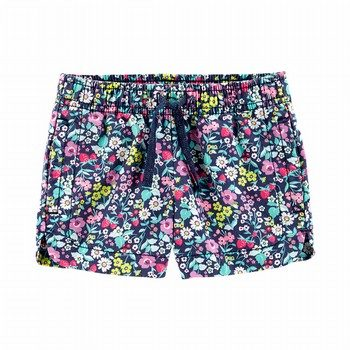 Carter's Floral Pull-On Twill Shorts