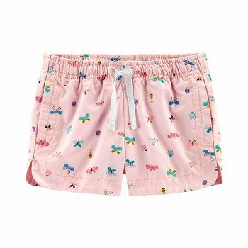 Carter's Butterfly Pull-On Twill Shorts