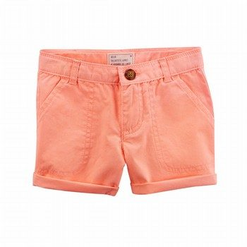 Carter's Neon Twill Roll-Cuff Shorts