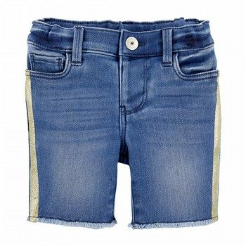 OshKosh B'gosh Glitter Stripe Denim Skimmer Shorts