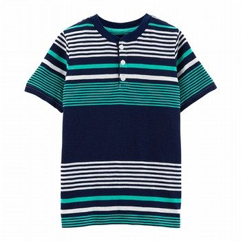Carter's Striped Slub Henley