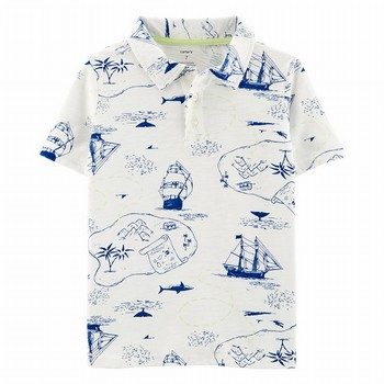 Carter's Pirate Ship Slub Polo