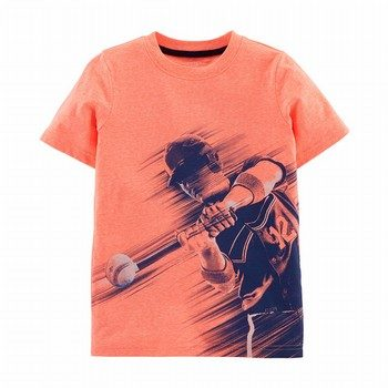 Carter's Neon Baseball Snow Yarn Tee