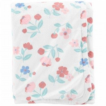 Carter's Floral Plush Blanket