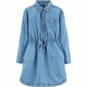 Carter's Embroidered Jean Dress