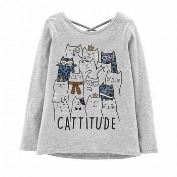 Carter's Cattitude L/S Tee