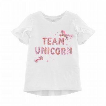 Carter's Sequin Unicorn Hi-Lo Tee