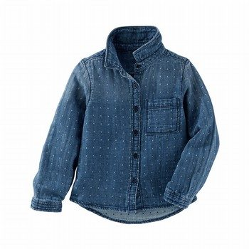 OshKosh B'gosh Dotted Denim Button-Front Top