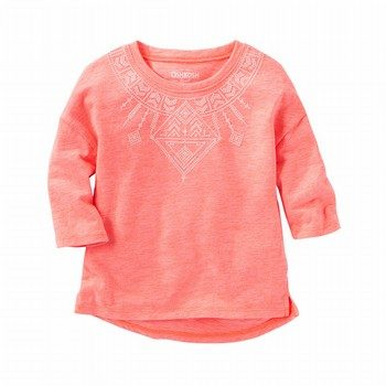 OshKosh B'gosh Puff-Print Neon Top