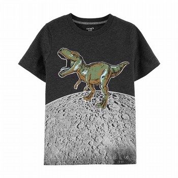 Carter's Glow Dino On The Moon Tee