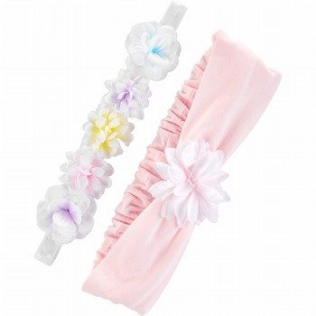 Carter's 2PK Flower Headwraps