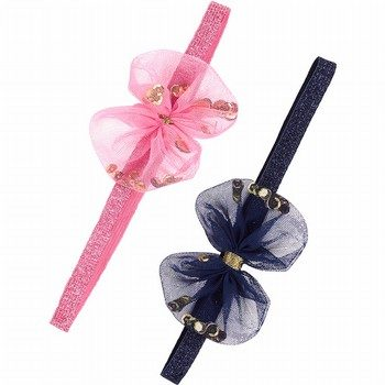 Carter's 2PK Tulle Bow Headwraps