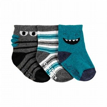 Carter's 3PK Monster Crew Socks
