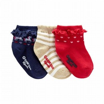 OshKosh B'gosh 3PK Quarter Crew Socks